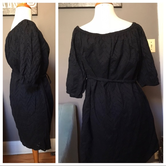 the gap Dresses & Skirts - Gap black off the shoulder  dress Size Large